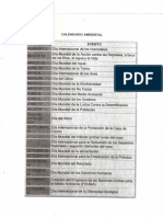 Calendario Ambiental [Desarrollo Sustentable]