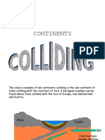 Colliding Continent & Fold Mountains