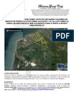 Informe Ejecutivo Lote Cartagena Para Venta PDF