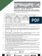 PROVA 5 - GRUPO E - NÍVEL MÉDIO III - ENG - DESENHISTA PROJETISTA DE TUBULAÇÃO