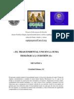 C. Etienne_El Trascendental Unum en La Summa Teologica
