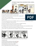 Atividades Tirinhas Mafalda 2