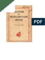 Souvenirs d'un Révolutionnaire Chinois, par Sun-Yat-Sen