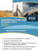 Hidrogeología del karst
