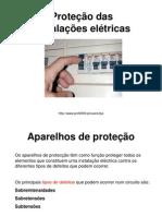 Protecção das instalações eléctricas.ppt