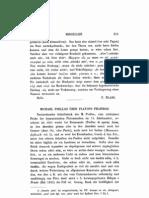 Michael Psellus Über Platons Phaidros A. Jahn
