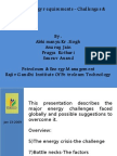 India's Energy requirements -Challenges & Solutions