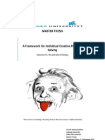 A Framework for Individual Creative Problem Solvingn