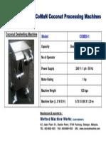 2012 CoCoMaN Coconut Machine COM20-1 Catalogue