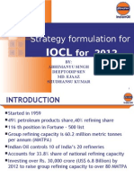 Strategy formulation for IOCL for 2012