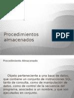 DBDD - Clase 3 Parte 1 - Procedimientos Almacenados