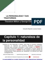 """CAP. 01 NATURALEZA DE LA PERSONALIDAD según Millon """"LA PERSONALIDAD Y SU TRASTORNOS"""""""