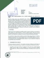 Medida Cautelar Servicio Militar. Cargo