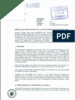 Demanda Proceso Amparo Servicio Militar. Cargo