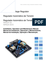 WEG Regulador Automatico de Tension Wrga 02 10001284080 Manual Espanol