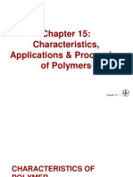Ch 15-Characteristics, Applications and Processing of Polymers