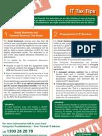 IT Tax Tips 2009