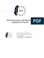 European Secondary Campus Handbook for Parents 2012- 2013