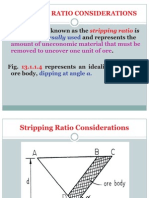 Stripping Ratio Considerations