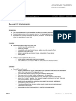 AcademicCareers Research Statements