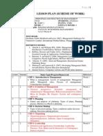 Scheme of Work - Management Mgt420 - 2012