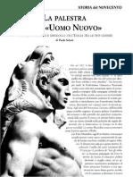 """Paolo Sidoni . La palestra dell'""""uomo nuovo"""""""