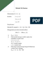 Metode M.charnes