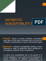 Antibiotic Susceptibility Test