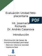 b. Evaluación Unidad Feto-placentaria
