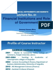 Advance Financial Instruments and MarketsLecture No. 01_ Role of Government in Financial Markets