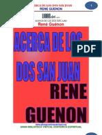 25 01 Acerca de Los Dos San JuanGuenon Rene Www.gftaognosticaespiritual.org 1