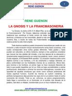 25 07 La Gnosis Y La Francmasoneria Guenon Rene Www.gftaognosticaespiritual.org