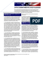 US State Dept Commitments and Pledges