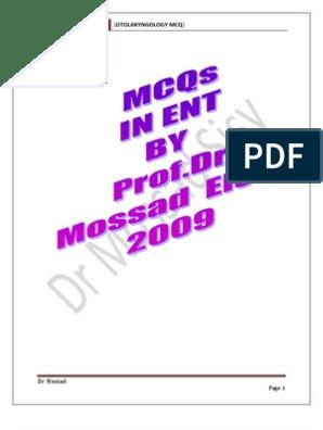 ent mcq a.pfd | Ear | Vertigo | Free 30-day Trial | Scribd