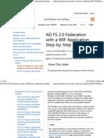 AD FS 2 - fed mgr 2