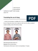 Translation of Use of Slang