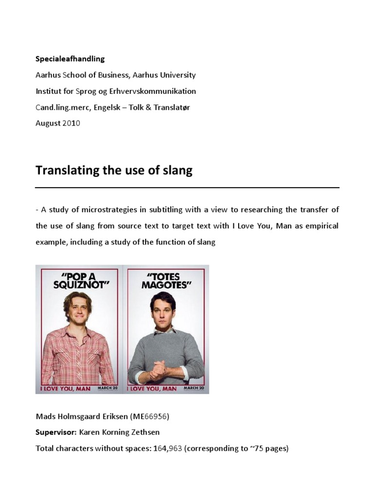 Translation Of Use Of Slang Slang Translations