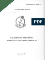 PLAN 10032 Evaluacion Primer Trimestre POI 2011 2011