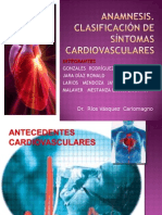 Anamnesis y  Síntomas cardiovasculares