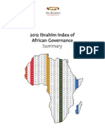The Mo Ibrahim Foundation 2012 Index of African Governance Summary Report
