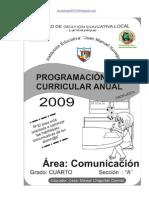 PROGRAMACION ANUAL 2009 COMUNICACIÓN