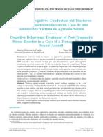 tratamiento cognitivo conductual del Tras por Estrés Post en un caso de agresión sexual