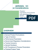 AEROSOL 101 Formulation Considerations