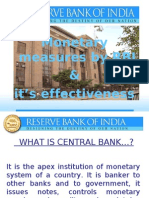 monetary policies by rbi in recession
