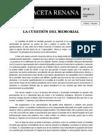 Nº8 La cuestión del memorial