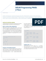Programming Patterns Some Common MATLAB Programming Pitfalls and How to Avoid Them