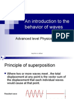 An Introduction to the Behavior of Waves