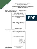 Modelo de Capa Folha de Rosto Resumo Resenha Fichamento
