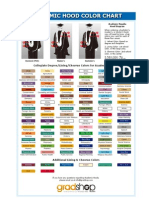 Academic Hood Degree Color Chart