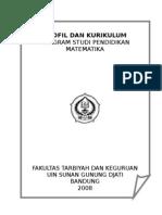 Profil Dan Kurikulum Prodi Matematika 2008